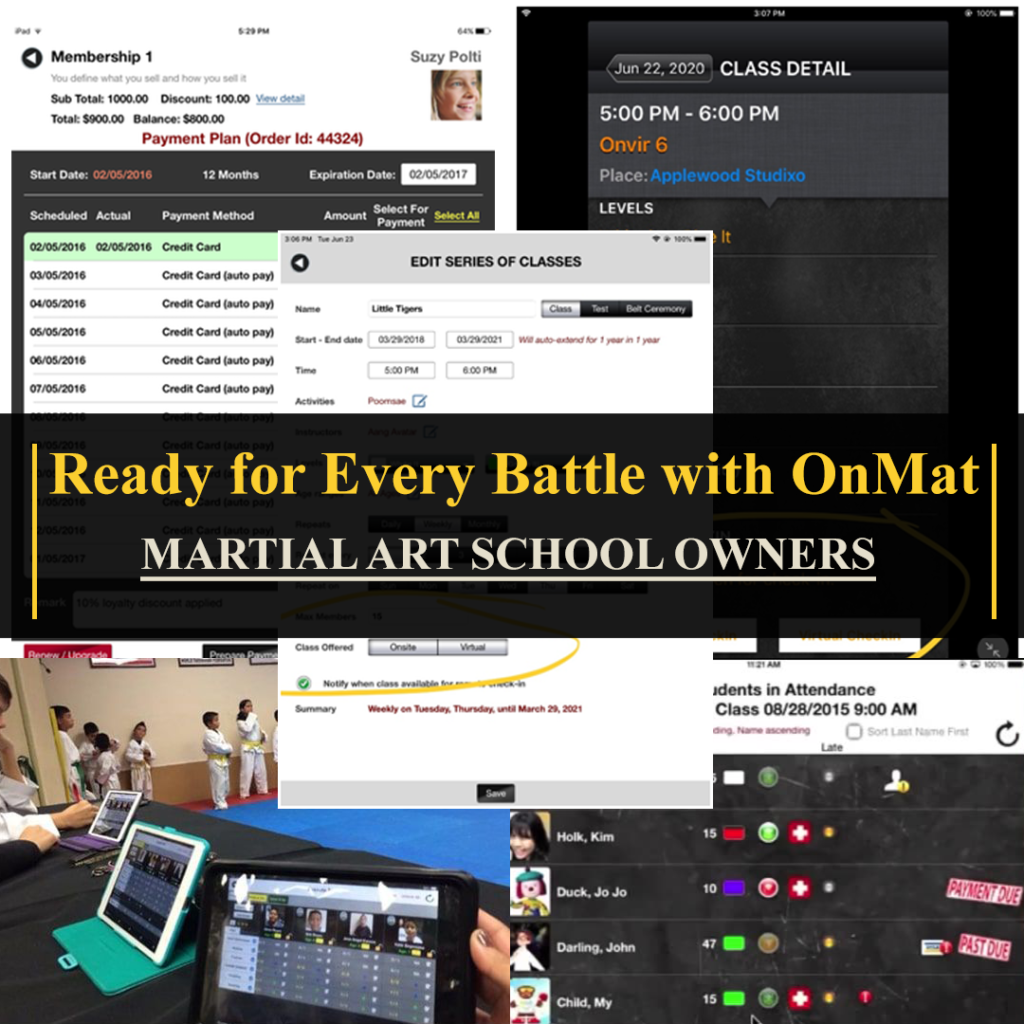 Martial Arts Studio Software OnMat