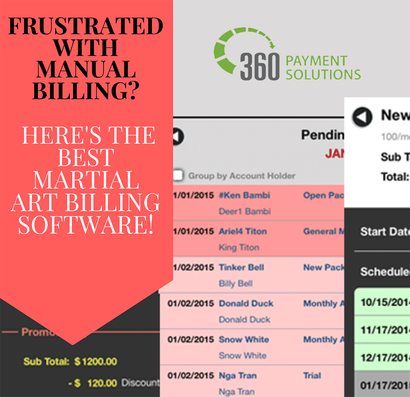 Martial Arts Billing Software